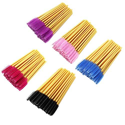 Frcolor 250pcs applicateur de baguette de mascara extension de cils pinceau assortis sourcils colorés pinceaux maquillage kits de cosmétiques