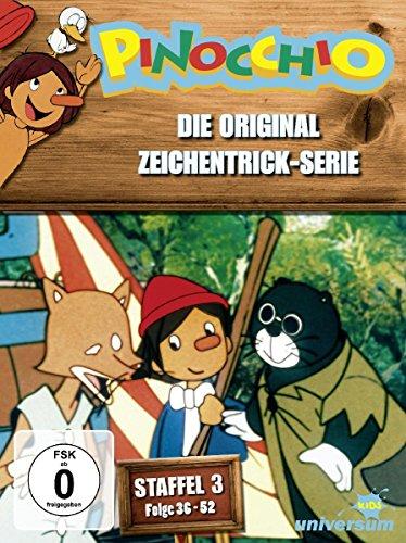 Pinocchio - Die Original Zeichentrick-Serie, Staffel 3, Folge 36-52 [3 DVDs]