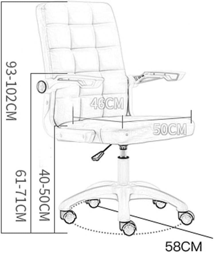 Chairs Chaises de Bureau Ordinateur Levage Rotatif Roue Accoudoir Retour À La Maison Moderne Simple Dortoir Conférence Tabouret de Bureau 3 Couleur Mumujin (Couleur:),Beige Beige