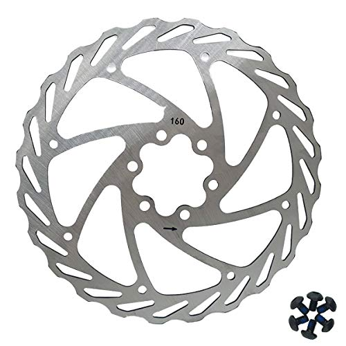 Bicycle Disc Brake Rotor 160mm Front And Rear Rotor Size 160mm-24mm For EBikes, Mountain Bike And Sports Bike