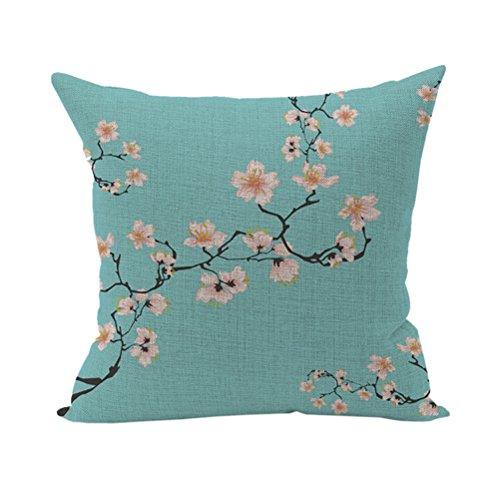 Nunubee Bunte Kissenbezug Dekokissen Haus Dekoration weich Quadrat Sofa Kissen Blume B