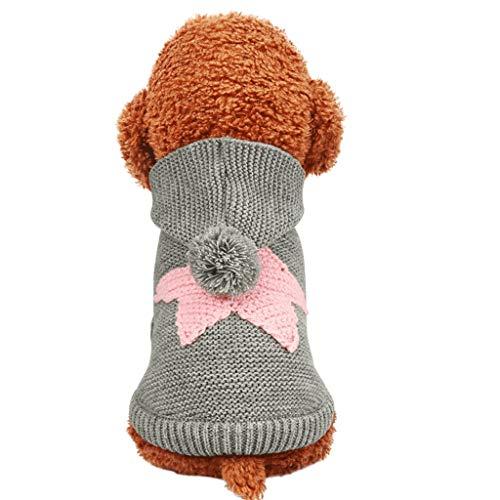 Vestiti per cani Pet Abbigliamento XS/S/M/L/XL Vestiti del Cane Piccolo Cane Autunno e in Inverno Maglione (Color : Pink, Size : XS)