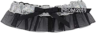 silver sequin prom garter