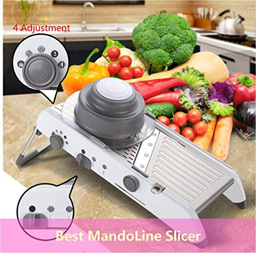 Adjustable Mandoline Slicer Professional Grater - BEST Mandoline for Everyday Kitchen Cooking, 18 in 1 Easy Food Chopper Vegetable Cutter Food Slicer by SameeHome (18 in 1 Mandoline Slicer)
