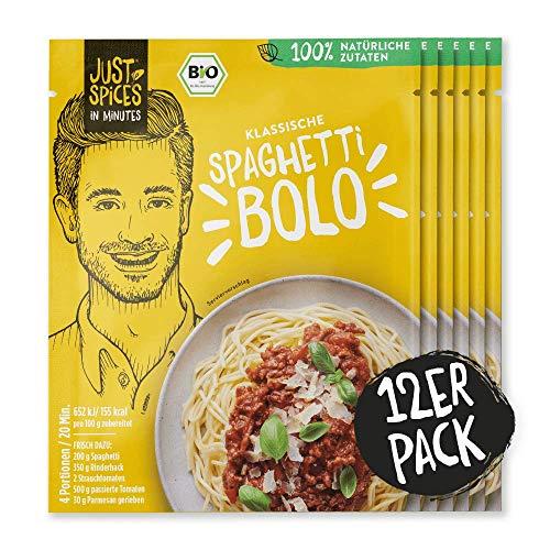 Just Spices IN MINUTES Bolognese |Einfach, Lecker, Schnell | 100% Natürliche Zutaten & 100% BIO | 12 Stück Vorteilspack