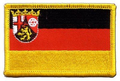 Flaggen Aufnäher Deutschland Rheinland-Pfalz Fahne Patch + gratis Aufkleber, Flaggenfritze®
