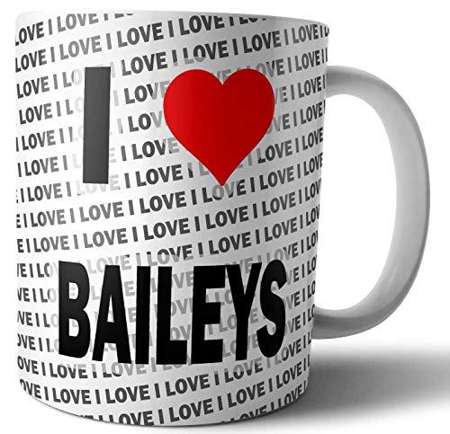 Ik hou van Baileys - Thee - Koffie - Mok - Beker - Verjaardag - Kerstmis - Gift
