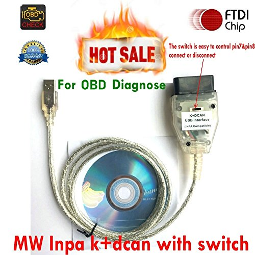 OBD Inpa K+Dcan Cable,Interfaz de Diagnóstico OBD2