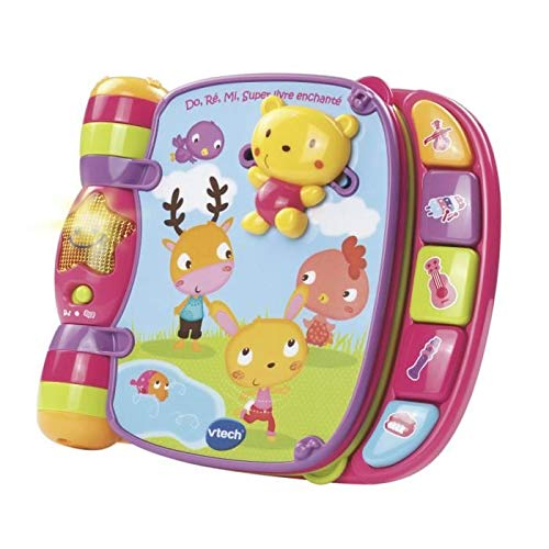 Vtech - 166755 - Jouet Musical - Do, Ré, Mi Super Livre Enchanté - Rose - Version FR
