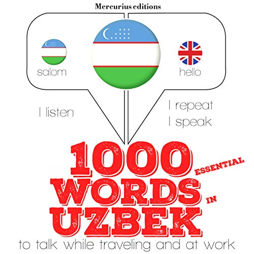 1000 essential words in Uzbek  By  cover art