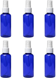 6PCS Spray Bottles 2 Ounces Small Blue Empty Bottles Plastic Mist Spray Bottle For DIY Home PlantsAromatherapy Beauty Care