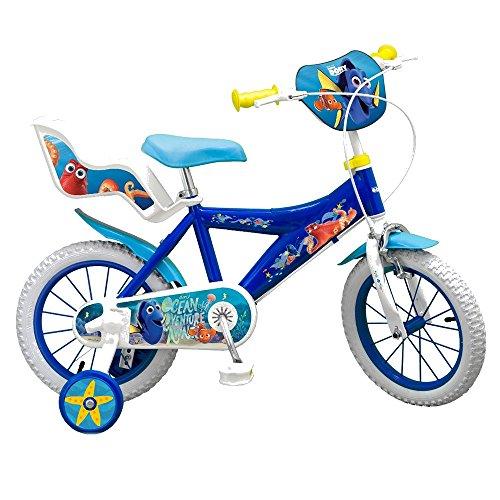 GUIZMAX Vélo Enfant 14 Pouces Le Monde de Dory et Nemo Licence Officielle Disney