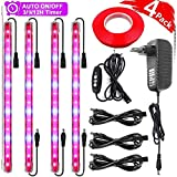 Roleadro 4 Pack LED Grow Light Strip