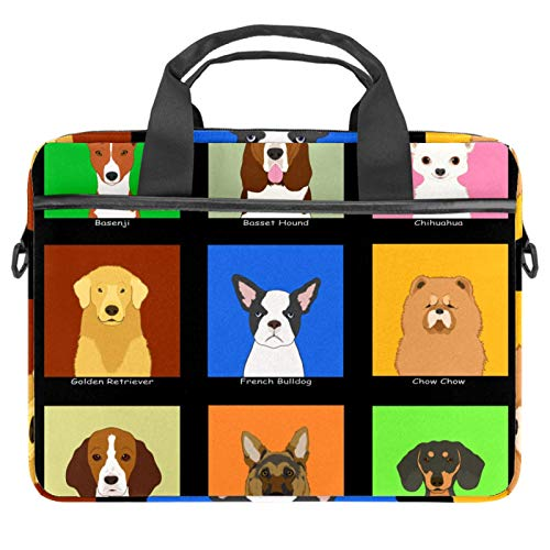 Laptop Bag Dog Friends Notebook Sleeve with Handle 13.4-14.5 inches Carrying Shoulder Bag Briefcase