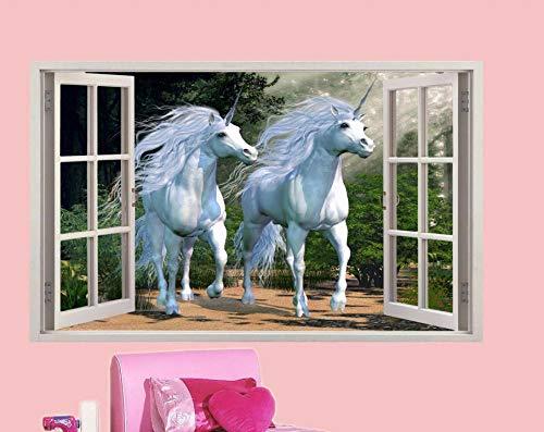 HUGF Pegatinas de pared Cuento de hadas Arte 3D Pegatinas de pared Decoración de habitación de niños y niñas Mural en Dream Manor