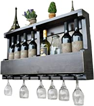 Wine Racks Wall Holder Wood | Vintage Wine Bottle Holder Wall Mounted | Rustic Wine Holder | Wall Shelf Storage Organizer ...