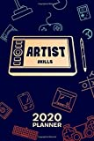 2020 PLANNER Weekly and Monthly: Game Developer Organizer - Jan-Dec 160 Pages A5 6x9 - Concept Artist Diary Drawing Tablet Journal Notebook 2D Art Calendar - Game Artist Gift for Men & Women