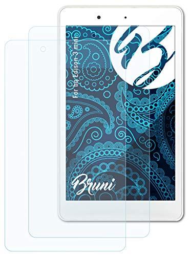 Bruni Schutzfolie kompatibel mit bq Edison 3 Mini Folie, glasklare Bildschirmschutzfolie (2X)