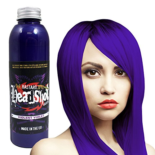 Violette Haarfarbe Headshot Violent Violet, Semi-permanente Haartönung 150 ml