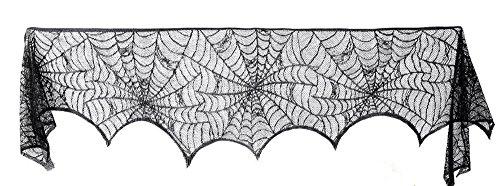 Halloween Dekorationen Schwarz Spitze Spider Web für Kamin Windows Indoor Outdoor