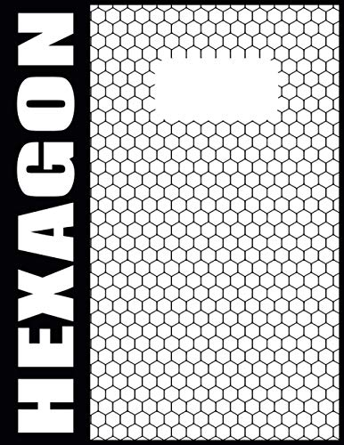 Hexagon Block Papier Chemie Mit Grauen Linien - A4 - 120 Nummerierte Seiten