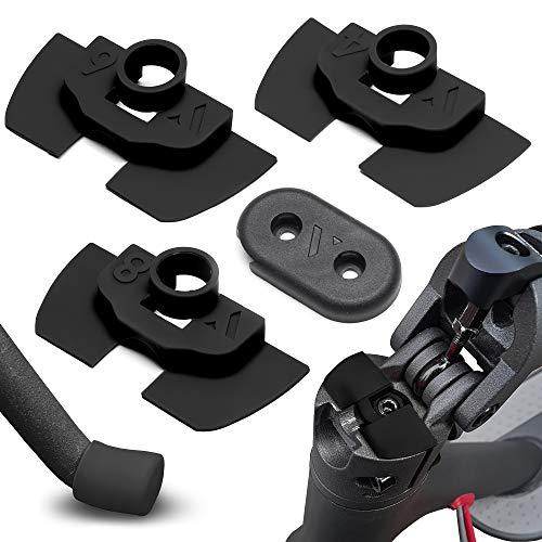 Amortiguador de Goma Flexible V2 Anti Holgura y Vibración Para Xiaomi Mijia M365 / Pro Scooter Eléctrico, Pieza Protección Led, M365 Accesorios, Patinete Electrico, Accesorios Mijia (Negro)