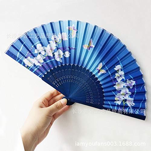 XHSSF-Abanico plegable Mariposa Flor de harina de Hueso Blanco Amor de Fan Fan de Flor de Cerezo,F