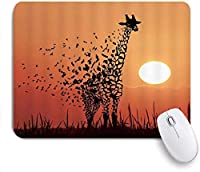 マウスパッド Mouse Pad Giraffe African Safria Nature Scenery Non-Slip Rubber Base for Computers Laptops