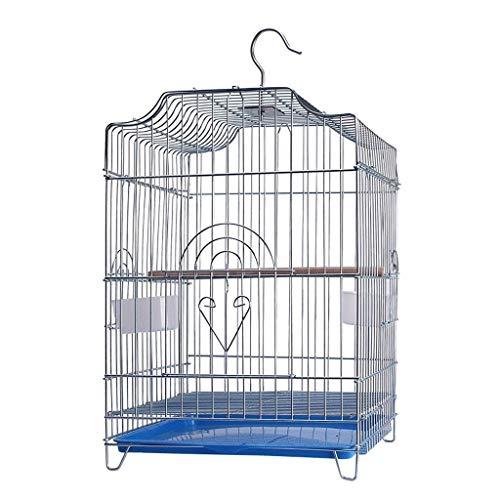 Liutao Vogelkooien Aviculture Tool Huisdier benodigdheden Vogelkooi Vogelhuis Papegaai Kooi Uitgerust Staande Stick Voedsel Raam handgrepen Trays Duurzame Vogelkooien, Zoals getoond