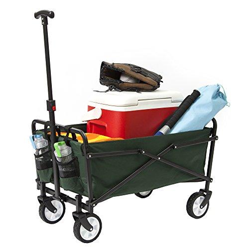 YSC Wagon Garden Folding Utility Shopping Cart,Beach (Regular, Green)
