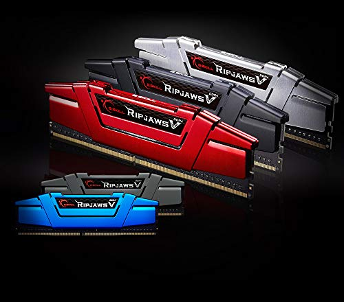 V Series F4-3000C15D-16GVR 16 GB Memoria RAM de Skill Ripjaws (8 gbx2) Kit de Memoria DDR4 3000 MHz C15 1,35 V - roja de ira