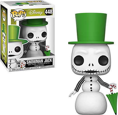 Funko - Pop! Disney: Nightmare Before Christmas - Snowman Jack Skellington Figura Coleccionable, Multicolor (32836)