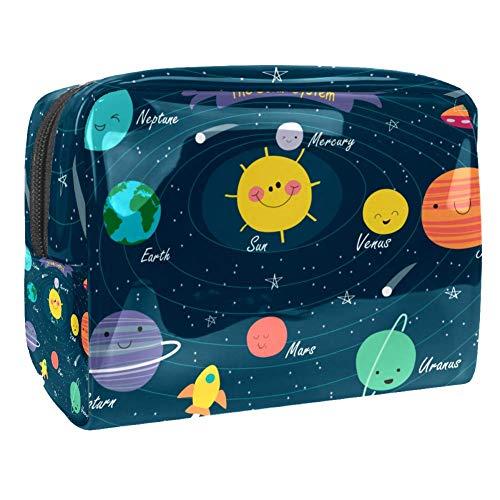 Trousse de toilette multifonction pour femme - Système solaire Galaxy Space Planet