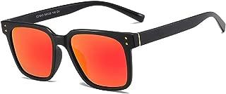SGJFZD Square Sporting Fishing Outdoor Seaside Sunscreen UV400 Quality Ladies' Polarized Sunglasses Trendy Polarized Sunglasses Large Frame Elegant Sunglasses (Color : Red)