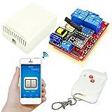 Receptor 433MHz + Transmisor Inalámbrico Control Remoto Relé Interruptor 220V 2CH para Electrodomésticos