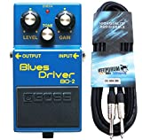 Boss BD-2 Blues Driver - Aparato de efectos para guitarra (incluye cable Keepdrum de 3 m)