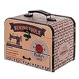 Caja Costura Decorativa de Madera con Set de Costura ' Maquina de Coser'. Costureros. Cajas Multiusos. Regalos Originales. Decoración Hogar. 25,50 x 18 x 20 cm.