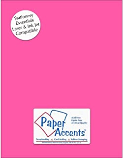 Accent Design Paper Accents Lite Stock 8.5x11 LiteStk Lt Pink