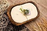 Wood Dough Bowl Candle