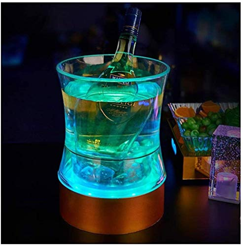 ZF LED Luminoso Cubo lingote Hielo plástico de Colores de Control de Carga a Distancia Bar Discoteca Cubo de Cerveza Bebidas cóctel,a