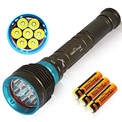 Sidiou Group 7 LED Cree-XM-L2 5600LM torcia elettrica torcia elettrica di alta qualità magnetica interruttore rotante luce subacquea della torcia LED