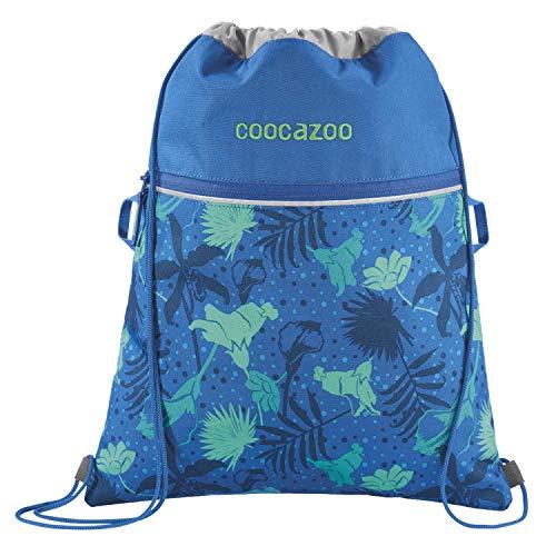 """Coocazoo Sportbeutel RocketPocket """"Tropical Blue"""", blau, mit Reißverschlussfach und Kordelzug, reflektierende Elemente, Schlaufen zur Befestigung am Schulrucksack, für Mädchen, 10 Liter"""