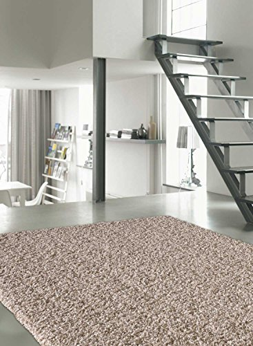 Dezenco Tappetino per Sala da Pranzo Basic Trendy Beige 200x 290cm Tappeto Moderno Varie Dimensioni Colori Disponibili