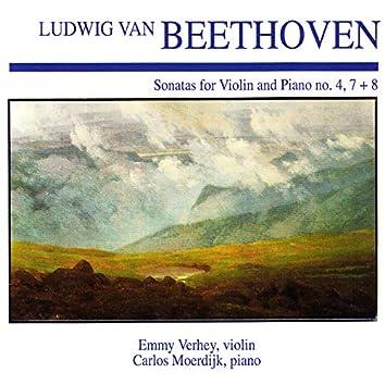 Ludwig Van Beethoven: Sonatas for Violin and Piano No. 4, 7 + 8