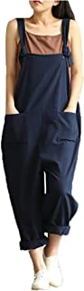 LISTHA Strap Pants Jumpsuit Overall Pockets Bib Baggy Playsuit Women Loose Trousers