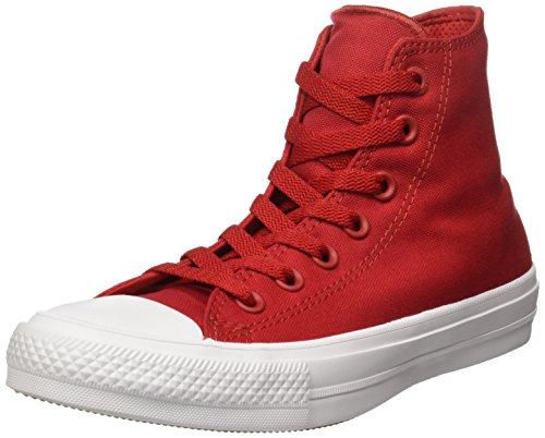 Converse Unisex – Erwachsene Chuck Taylor All Star Ii High Sneaker top, rot, 39.5 EU