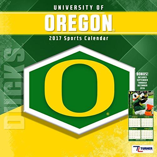 "Turner Licensing Sport 2017 Oregon Ducks Team Wall Calendar, 12""X12"" (17998011830)"