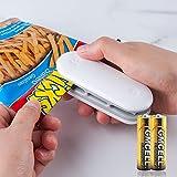 Yimorex Mini Sigillatore 2 in 1 Mini Bag Sealer Mini Sigillatore Termico portatile della mano sealer per sigillare i sacchetti Dispositivo di Tenuta macchina sottovuoto per alimenti