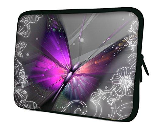 Ektor Hülle/Sleeve/Tasche für 25,4-44,7 cm (10-17,6 Zoll) Laptops/Notebooks, in unterschiedlichen Mustern & Größen erhältlich (Teil 2 von 3) Auffälliger Schmetterling 12