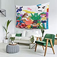 ウォールアート 布ポスター カーテン 壁飾 タペストリー おもちゃウォーズ (1) 壁掛け おしゃれ 室内装飾タペストリー 多機能 カーテン タペストリーピクニックテーブルカバーと カバー